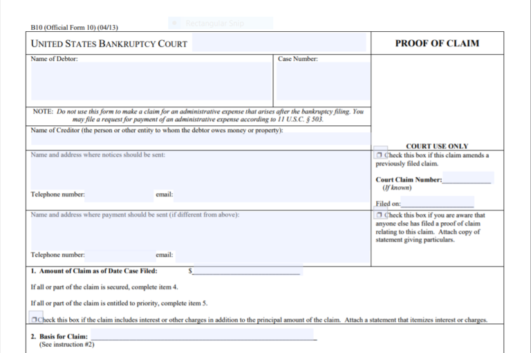 Creditors Don't Forget to File Your Proofs of Claim When a ...