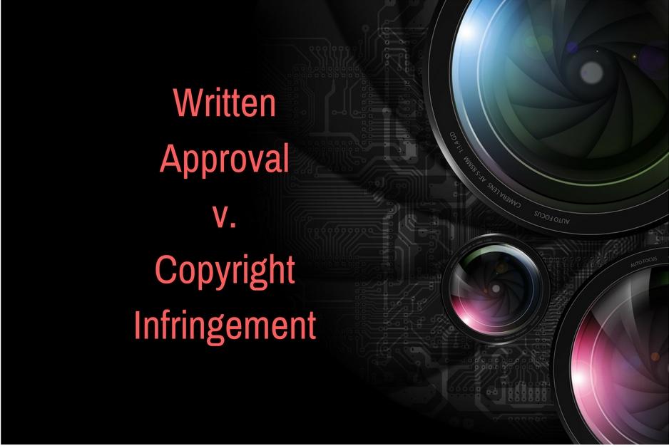 written approval v. copyright infringement photo