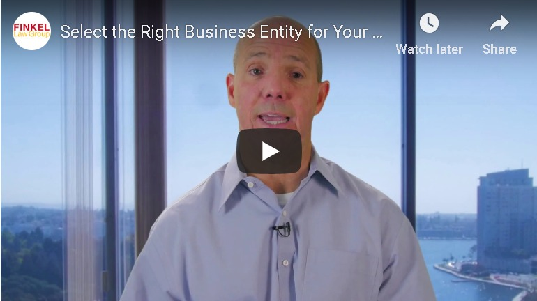 Business Entity Selection Video
